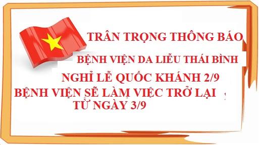 Thông Báo Nghỉ Lễ Quốc Khánh 2/9